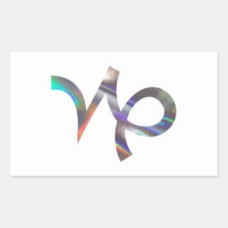 Sticker Rectangulaire Capricorne d'hologramme