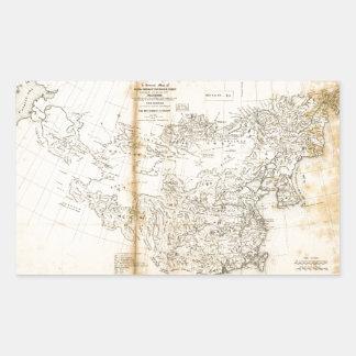 Sticker Rectangulaire Carte de la Chine Chinoise-Tartary et du Thibet