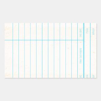 Sticker Rectangulaire Carte due de date de livre de bibliothèque