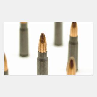 Sticker Rectangulaire Cartouche 7.62x39 d'AK47 de balle de munitions