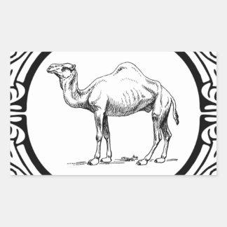 Sticker Rectangulaire cercle du chameau
