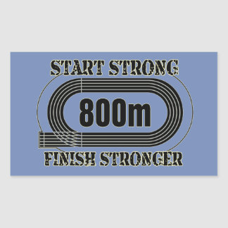 Sticker Rectangulaire Champ de voie cadeau moyen de coureur de fond de