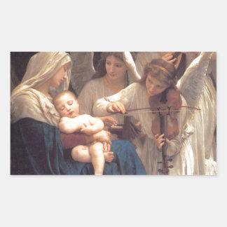 Sticker Rectangulaire Chanson des anges - William-Adolphe Bouguereau