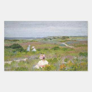 Sticker Rectangulaire Chasse de William Merritt - paysage - Shinnecock,