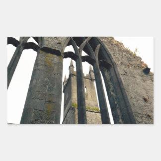 Sticker Rectangulaire Château irlandais - forteresse - près des portes