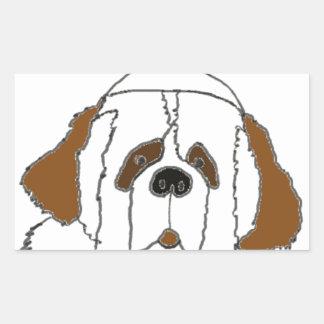 Sticker Rectangulaire Chiot Francis pour de petits articles