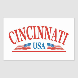 Sticker Rectangulaire Cincinnati Ohio Etats-Unis