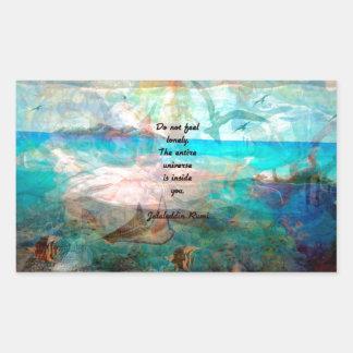 Sticker Rectangulaire Citation d'inspiration de Rumi au sujet de
