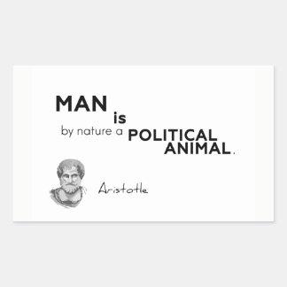 Sticker Rectangulaire CITATIONS : Aristote : Homme : animal politique