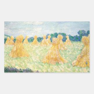 Sticker Rectangulaire Claude Monet - les jeunes dames de Giverny
