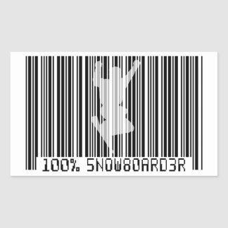 Sticker Rectangulaire Code barres 100% noir du SURFEUR 2