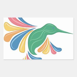 Sticker Rectangulaire Colibri