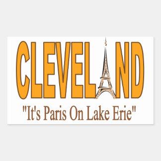 Sticker Rectangulaire Collage avec Cleveland