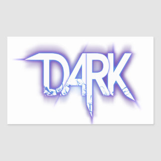 Sticker Rectangulaire Colle « DARK ""