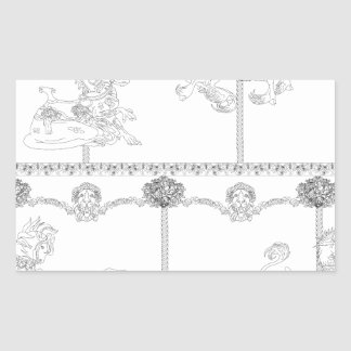 Sticker Rectangulaire Colorez-moi carrousel