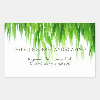 Sticker Rectangulaire Conception amicale de la terre verte de feuille