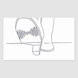 Sticker Rectangulaire Conception d'Arctic Monkeys