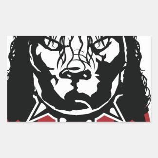 Sticker Rectangulaire conception de Jackson de mine mignonne