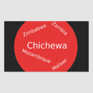 Sticker Rectangulaire Conception de langue de Chichewa