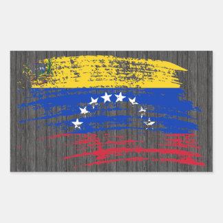 Sticker Rectangulaire Conception vénézuélienne fraîche de drapeau