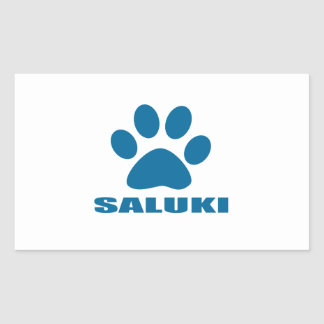 STICKER RECTANGULAIRE CONCEPTIONS DE CHIEN DE SALUKI