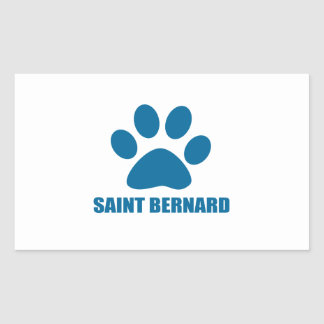 STICKER RECTANGULAIRE CONCEPTIONS DE CHIEN DE ST BERNARD