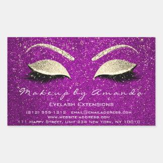 Sticker Rectangulaire Confettis d'or de rose de beauté du maquillage