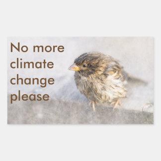 Sticker Rectangulaire Conscience de changement climatique