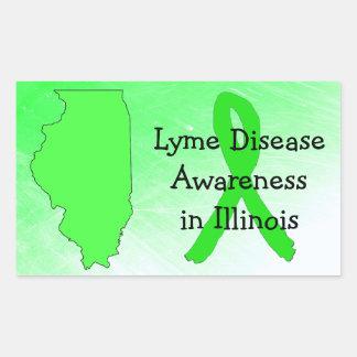 Sticker Rectangulaire Conscience de la maladie de Lyme dans des