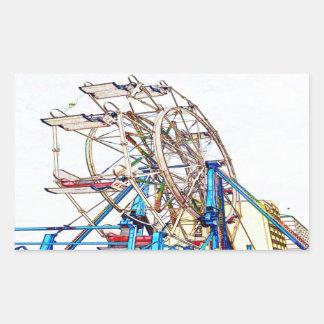 Sticker Rectangulaire Contour de Roue-Craie de Ferris par Shirley Taylor
