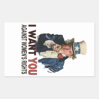 Sticker Rectangulaire Contre des droits de la femme