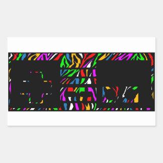 Sticker Rectangulaire Contrôleur de l'impression NES de zèbre de partie