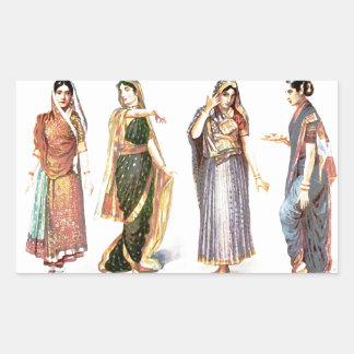 Sticker Rectangulaire Copie vintage de Styles_of_Sari