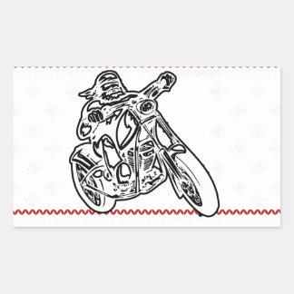 Sticker Rectangulaire coupe de conception de moto