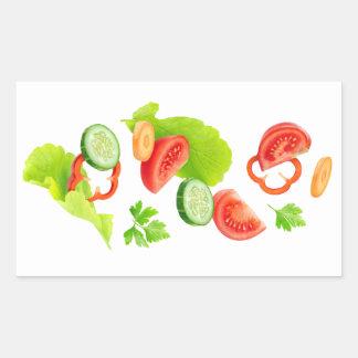 Sticker Rectangulaire Coupez les légumes