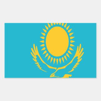 Sticker Rectangulaire Coût bas ! Drapeau de Kazakhstan
