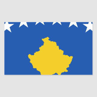Sticker Rectangulaire Coût bas ! Drapeau de Kosovo