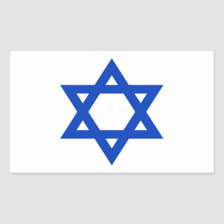 Sticker Rectangulaire Coût bas ! Drapeau de l'Israël