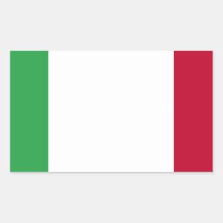 Sticker Rectangulaire Coût bas ! Drapeau de l'Italie