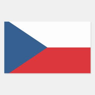 Sticker Rectangulaire Coût bas ! Drapeau de République Tchèque