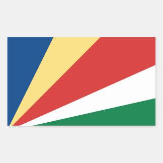 Sticker Rectangulaire Coût bas ! Drapeau des Seychelles