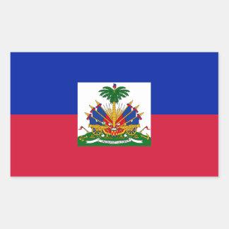 Sticker Rectangulaire Coût bas ! Drapeau du Haïti