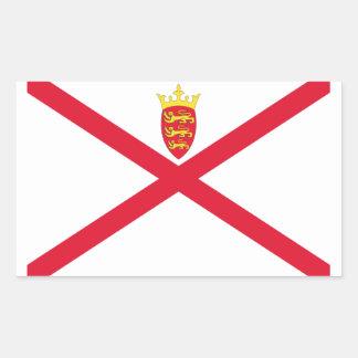 Sticker Rectangulaire Coût bas ! Drapeau du Jersey