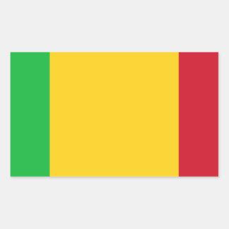 Sticker Rectangulaire Coût bas ! Drapeau du Mali