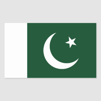 Sticker Rectangulaire Coût bas ! Drapeau du Pakistan