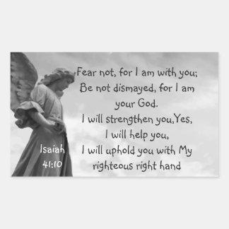 Sticker Rectangulaire Crainte pas, écriture sainte d'Isaïe soulageant