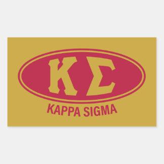 Sticker Rectangulaire Cru du sigma | de Kappa