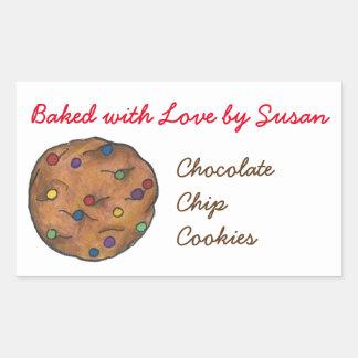 Sticker Rectangulaire Cuit au four avec la boulangerie de cuisson de