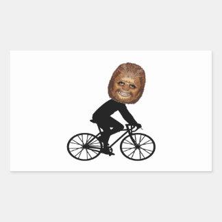 Sticker Rectangulaire Cycliste légendaire