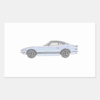 Sticker Rectangulaire Datsun 240Z